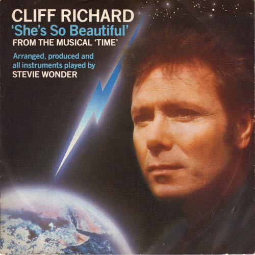 "Albumcover Cliff Richard - She´s so beautiful  (2 Versionen) From the Dave Clark Concept Album ""Time"""