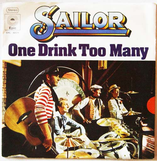 Albumcover Sailor - One Drink Too Many / Melancholy