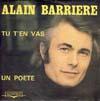 Cover: Alain Barriere - Alain Barriere / Tu T´en Vas  /  Un Poete