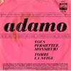 Cover: Adamo - Adamo / Vous permettez Monsieur / Tombe la neige