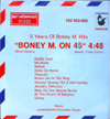 "Cover: Boney M. - Boney M. on 45"" - 6 Years of Boney M Hits"