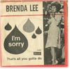 Cover: Brenda Lee - Im Sorry / Thats All You Gotta Do