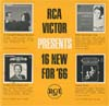 Cover: RCA Sampler - RCA Victor Presents 16 New For 66