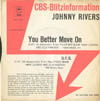 Cover: Johnny Rivers - You Better Move On / U.F.O. (CBS Blitzinformation)