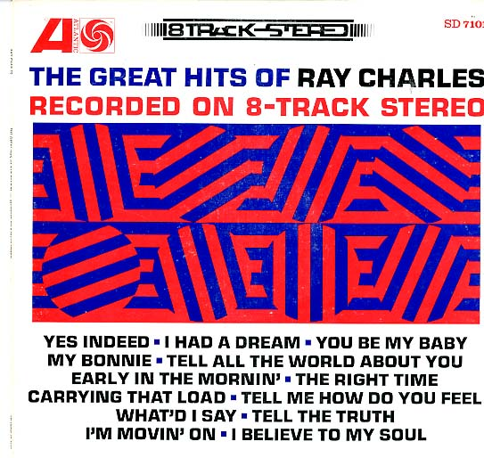 Albumcover Ray Charles - The Great Hits Of Ray Charles Recordrd on 8-Track Stereo