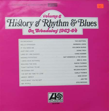 Albumcover History of Rhythm & Blues - History of Rhythm & Blues, Vol. 6 - On Broadway 1963-64
