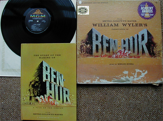 Albumcover Ben Hur - Music From MGM William Wylers Presentation of Ben hur, Music By Miklos Rozsa