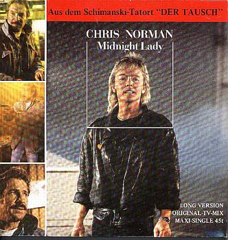 "Albumcover Schimanski - Aus dem Tatort ""Tausch"" Chris Norman: Midnight Lady / Woman (instrumental)"